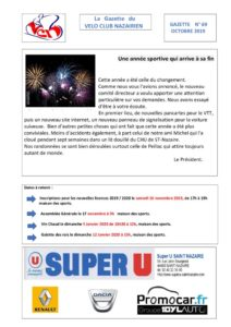 thumbnail of Gazette 69 Mois d'octobre (1)